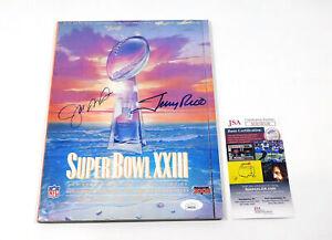 Joe Montana / Jerry Rice Signed Super Bowl XXIII Program 2 JSA Autos DA042084