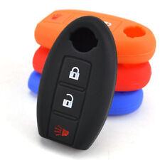 Premium Silicone Case Cover For NISSAN Qashqai Juke 3 Button Key Fob Holder Skin