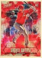2018 Panini Father's Day Shohei Ohtani RC #'d 10/25 Escher Squares Refractor #60