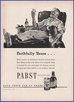 Vintage 1938 PABST Beer Alcohol Liquor Art Décor 30's Print Ad