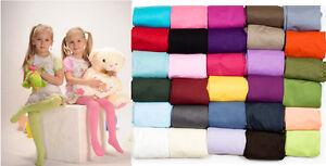 Kids Tights Plain Opaque 40 Denier Microfibre Age 2-12 Years-30 Various Colours