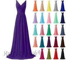 Long New Formal Evening Ball Gown Party Prom Bridesmaid Dress Stock Size 6-24