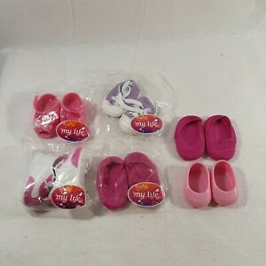Lot Of 6 My Life Baby Doll Shoes