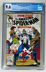Amazing Spider-Man #374 / CGC 9.6 NM+ / Marvel 1992 / Classic Bagley Venom Cover