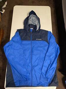 Columbia Omni-Shield Packable Rain Wind Nylon Jacket Size Large Men's