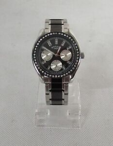 ROTARY LADIES STAINLESS STEEL BRACELET BLACK AND SILVER CHRONO LB03447/04 RF3367