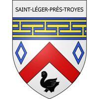 Saint-Léger-près-Troyes 10  ville Stickers blason autocollant adhésif Taille:12