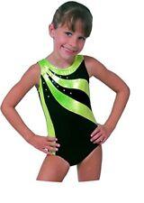 "NEW Snowflake Green Sunfire Gymnastic/Dance leotard age 7-8 Years (28"")"