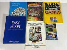 VINTAGE COMMODORE 64 & 16 COMPUTER - BOOKS,GUIDES,ADVERTISING LOT 1980S