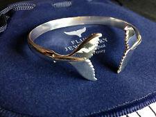 Humpback whale fluke bangle Sterling Silver Sea Shepherd, Fluke Jewellery