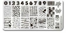 Retro Script Theme Nail Art Stamping DIY Manicure Template Image Plate  BPX-L010