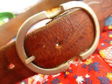 28 29 Small True Vintage 70s Hippie Leather Double Catch Buckle Hippy Belt