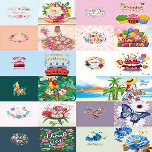 12x 5D DIY Diamond Painting Greeting Cards Birthday Thanks Postcards Craft Gift