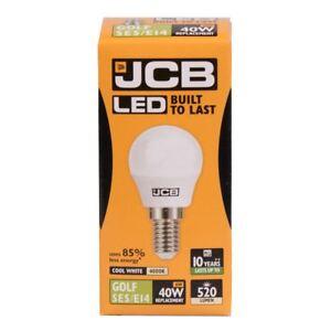 5x 6w = 40w LED SES E14 Opal Golf Ball Bulb 520lm 4000k Cool White JCB s12501