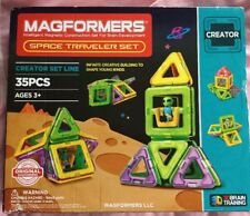 NEW Magformers Creator Space Traveler Magnetic Building Set 35 Pcs