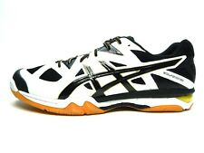 ASICS GEL TACTIC B504N 0190 VOLLEYBALL WHITE BLACK PALE GOLD MEN SHOES SIZE 15