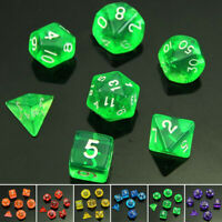Durable Dice 1 Set For Dungeons&Dragons Game Set Portable 7 Polyhedral Kit