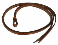 Western Horse Barrel Racing Leather Over and Under whip w// Beaded Cactus Design