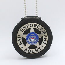 Bail Enforcement Agent badge   Leather Holder Belt Clip 2 1/4 inch