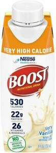 Boost Very High Calorie Complete Nutritional Drink - Very Vanilla, 27 count