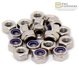 STAINLESS STEEL NYLOC LOCK NUTS 3mm 4mm 5mm 6mm 8mm 10mm Excellent Quality Nuts