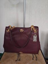afb499cb25955 COACH Turnlock Edie Shoulder Bag Pebbled Leather Oxblood Gold 36855 (NWT)