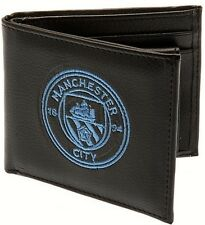 Manchester City Football Club Crest Embroidered Leather Wallet Sk099 AA 05