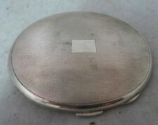 Antique Oval Silver Compact William Suckling Birmingham 1946 88g A602017