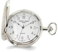 Charles Hubert Two-tone White Dial Pocket Watch