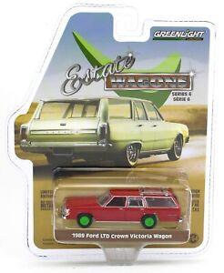 1:64 GreenLight *ESTATE WAGONS 6* GREEN MACHINE 1989 Ford LTD Crown Victoria NIP