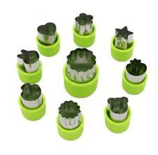 9 Pcs Stainless Steel Fruit Vegetable Cutter Shapes Set Mini Cookie Slicer Mold
