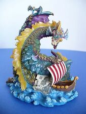 Westland Scandinavian Dragon Lore & Viking Ship Resin Figurine. 1999. No. 9586