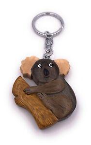 Koala Bär liebes Tier Holz Edel Handmade Schlüsselanhänger Anhänger