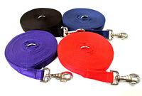 25mm Cushion Horse Lunge Line Large Dog Training Lead 16 Colours 3m 6m 9m Length