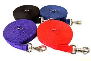 Dog Training Lead Horse Lunge Line Large 19 Colours 3m 6m 9m Length 25mm Cushion