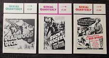 1966/67 SERIAL QUARTERLY Fanzine #5 6 7 FVF 7.0 Buck Rogers Red Ryder LOT of 3