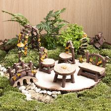 Miniature Fairy Garden Furniture Resin Tree Stump Bridge Ornament Home Decor
