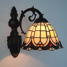 Tiffany Vintage Wall Lamp Stained Glass Wall Sconce Beside Lights Fixtures WL265