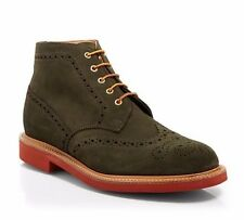 Mark McNairy New Amsterdam Men's Wingtip Suede Boots Green Size 10 (UK-9)