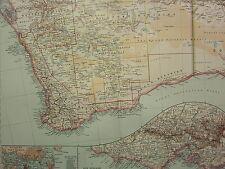 1907 DATED MAP SOUTH WEST AUSTRALIA SYDNEY PORT JACKSON ENVIRONS INSET VICTORIA