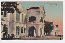 More details for malaya penang town hall printed in germany postcard e20c - m424