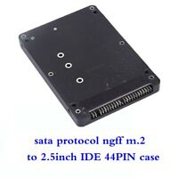 M.2 NGFF SATA SSD to 2.5 IDE 44pin Converter Adapter with Case Black
