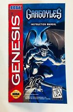 Gargoyles - Sega Genesis - Reproduction Manual Instruction Booklet - No Game