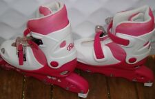 Barbie Inline skates white & pink  knee pads elbow pads brand new