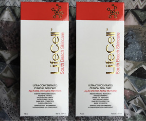 2 Pack LifeCell Anti-Aging Skin Care Cream 75ml New in Box