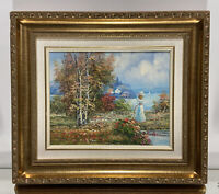 VTG. French Impression Oil on Board Painting Signed B. Paulson