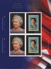 Jersey 2013 Queen Elisabeth stamp on stamp special sheetlet with 4 stamps mnh us