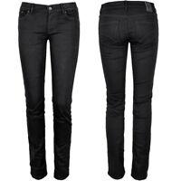Adidas Damen Röhren Jeans Skinny Strech Hose Jeggings Hüftjeans schwarz [XS S M]