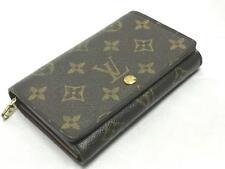 Louis Vuitton Monogram Canvas Leather Porte Tresor Wallet Authentic (SD0062)