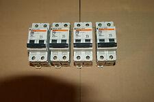 5 disjoncteurs Merlin Gerin 10 A Ampéres 2P  réf 23691 C60a tableau électrique